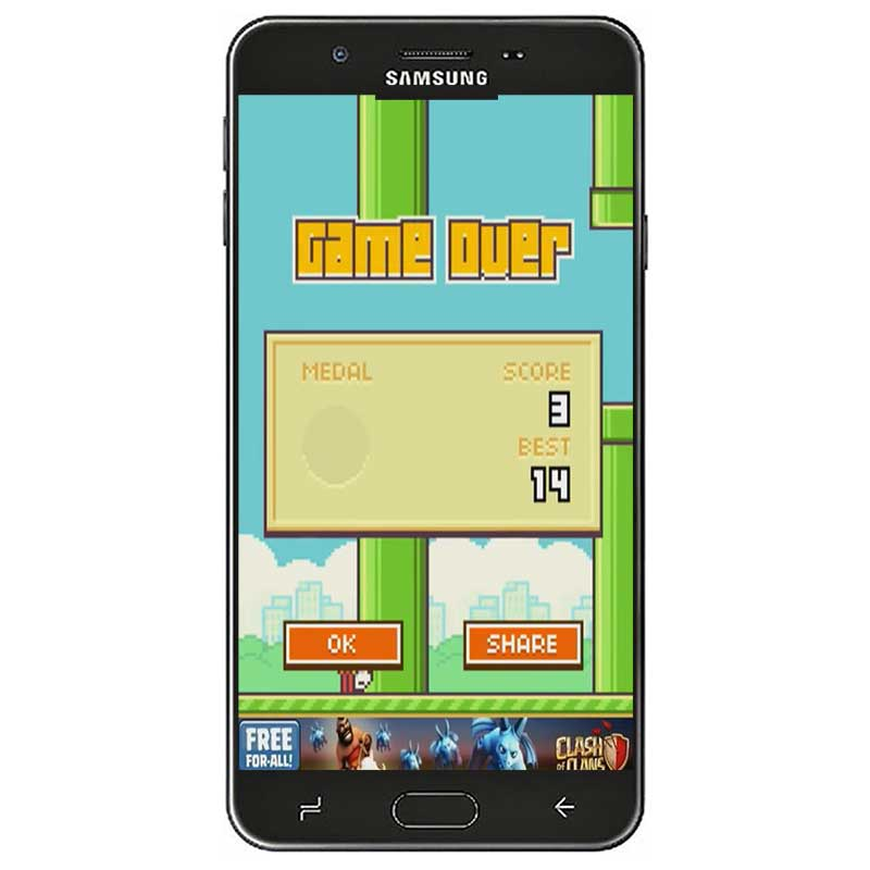 Flappy Bird Android game play